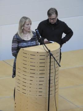 ELY:N terveiset toi Paula Nelimarkka ja Tapio Sivula